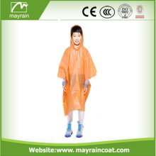Factory Directly PE Poncho Disposable Rain Poncho