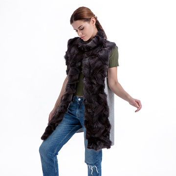 Fashionable fur and cashmere vest