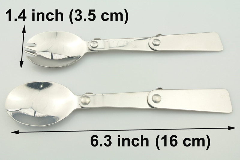 18/8 Polished Stainless Steel Folding Spoon