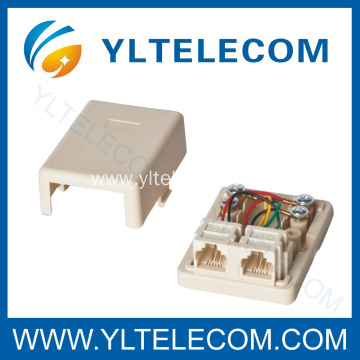 Telephone Surface Mount Box 2Port