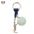 Metal keychain engraving with personalized logo