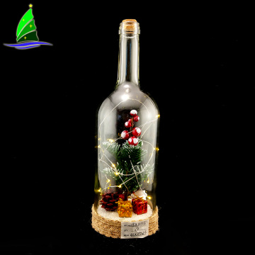 Christmas Wedding Decorative Glass Bottle with String Lights