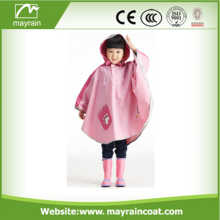 Cheap Children PU Rain Poncho with Logo