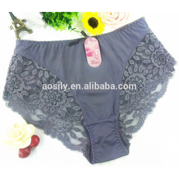 AS-635 new fashion plus size high quality women's briefs wholesale made of lace and chinlon fabrics