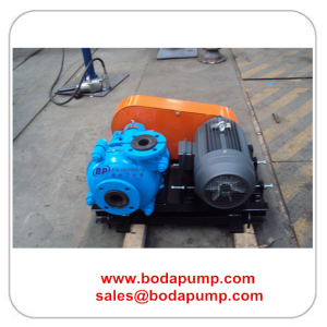 Rubber Liner Slurry Pump with Motor