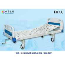 Manual semi-fowler hospital bed