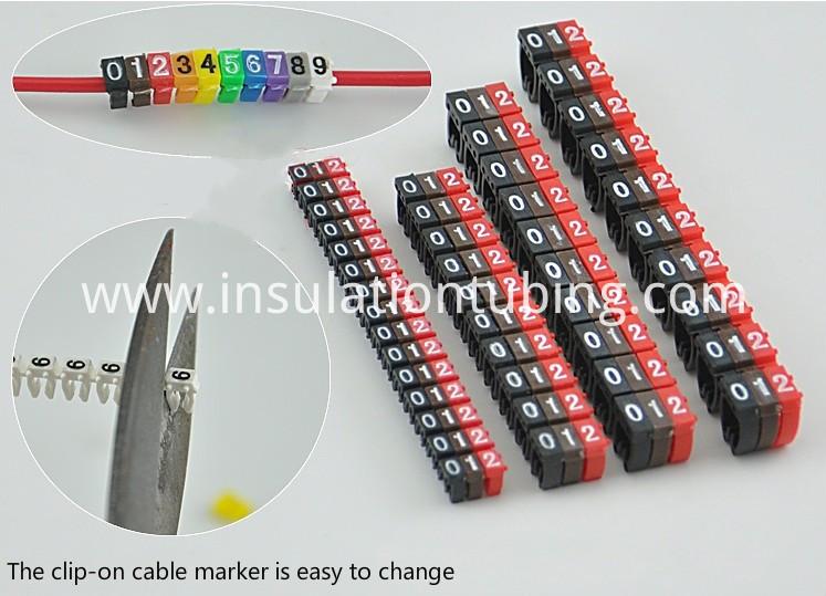 Clip on cable marker