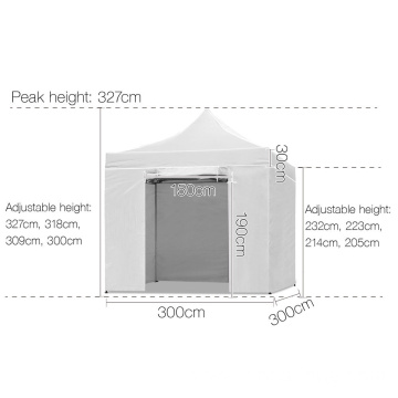 10x10 metal frame commerical folding gazebo tent