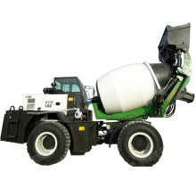 Wheel diesel self loading concrete machinery mixer