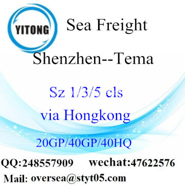 Shenzhen Port Sea Freight Shipping To Tema