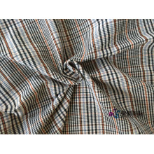 2018 Check Polyester Stretch Fabric