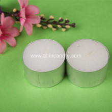 paraffin wax colored tealight candle