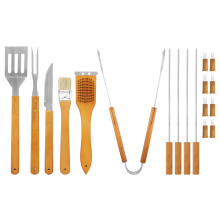 Customized for BBQ Grill Utensils Barbecue Accessories Stainless Steel BBQ Grill Tools Set supply to South Korea Factory