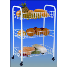 3-Tier Basket Rolling Cart