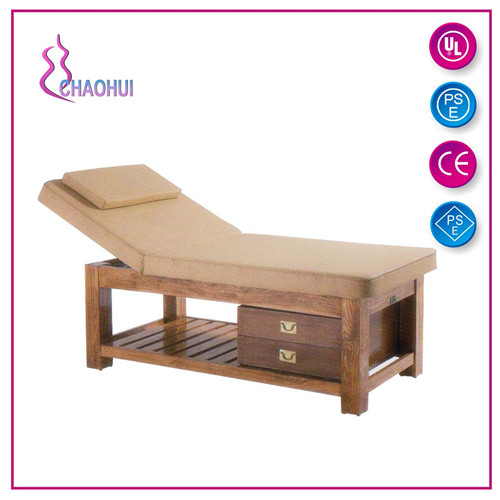 Hot Sell Beauty Salon Wooden Facial Bed