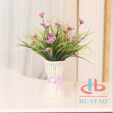 Artificial potted plant with flower