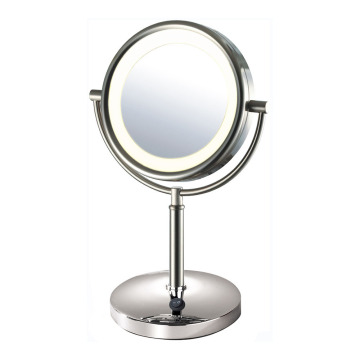 Double vanity mirror with 5x mag