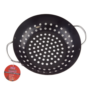 OEM Customized for Bbq Grill Basket round steak grill cast iron wok plate export to Netherlands Manufacturer