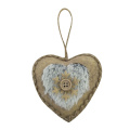 Heart pendant ornaments with winter woodland style