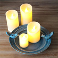 Flameless Real Wax Pillars Dancing LED candle