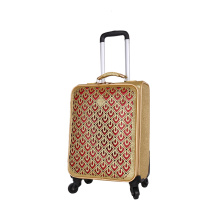 gold 3D pattern fashion high-end luggage