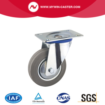 Gray Rubber Swivel Europe Type Industrial Caster