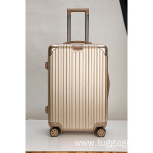 Factory directly provided for Stylish Striped Style Suitcase Scratch resistant ABS cabin luggag export to France Exporter
