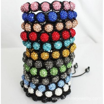 Colorful Shamballa Beads Wholesale Bracelet Weaved Design
