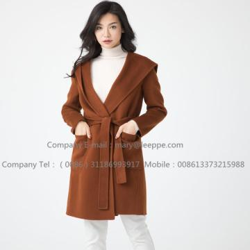 Medium Cashmere Coat  Hooded