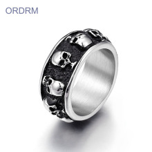 Top for Crystal Skull Ring Mens Stainless Steel Skull Rings Wholesale supply to United States Wholesale