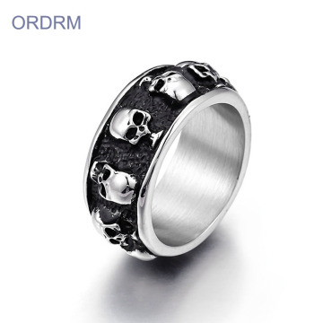 Mens Stainless Steel Skull Rings Wholesale