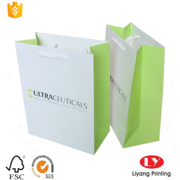 Custom paper cosmetic gift packaging shopping bag