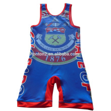 20 Years manufacturer for China Bodysuit Wrestling Wear, Men Sleeveless Wrestling Singlet Manufacturer and Supplier Custom high cut sublimated youth wrestling singlet export to France Factories