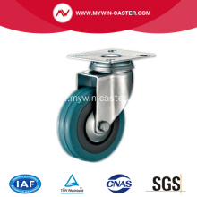 5'' Plate Swivel Grey Rubber Caster