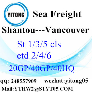 Shantou Shipping Agent to Vancouver
