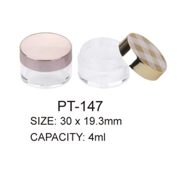 Round Empty Plastic Eyeshadow with Clear Window