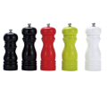 Manual wooden pepper mill with color painting