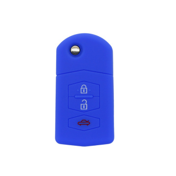 Silicone 3 buttons key cover Walmart for Mazda