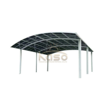 Gazebo Wooden Glass Roof Carport Garage