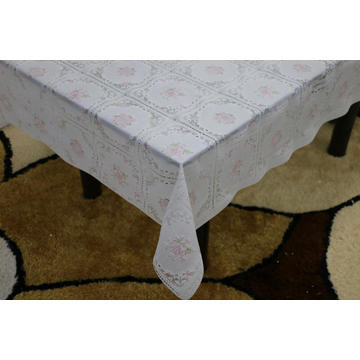waterproof Printed pvc lace tablecloth by roll