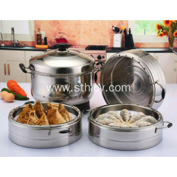 3 Tier Electric Stainless Steel Food Steamer Pot