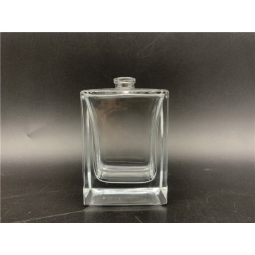 70ml clear square glass bottle for men's spray