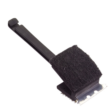 2 sides bbq grill brush with scraper