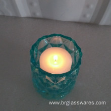 Big Discount for China Candle Jars, Glass Candle Jars, Candle Tins, Candle Jars With Lids, Glass Candle Jar Manufacturer Unique Diamond Design Colored Glass Candle Jar export to Russian Federation Manufacturer