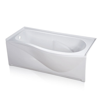 Curved Jacuzzi Alcove Soaking Bathtub