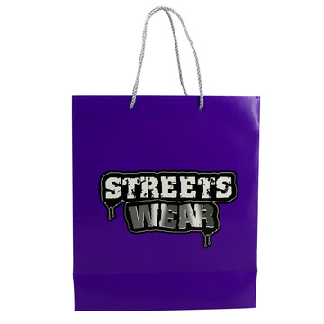 Custom Logo Apparel Use Shopping Recycled Paper Bag