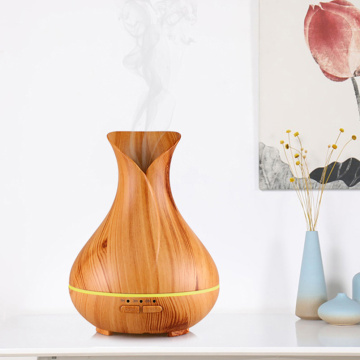 Mini Wood Grain Ultrasonic Aroma Air Humidifier