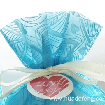 Blue Embossed Non Woven Valentine's Day Gift Bag