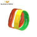 Sample Free Logo Customized Colorful Silicone Waterproof RFID Wristbands