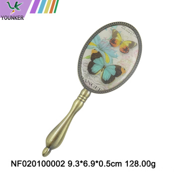 Hot selling mini hand metal makeup mirror